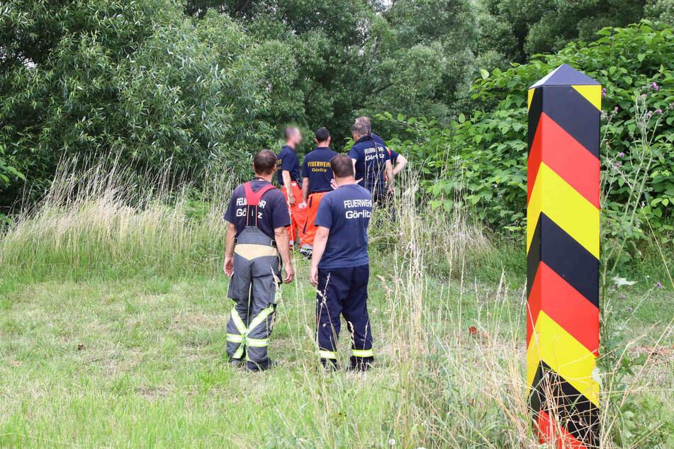 Rettungskräfte vor Ort.