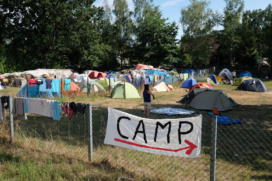Das zwölftägige Klimacamp Leipziger Land soll 500 Teilnehmer zusammenbringen. Fokus ist in diesem Jahr ein Thema, das zurzeit viele Gemüter erhitzt. (Archivbild)