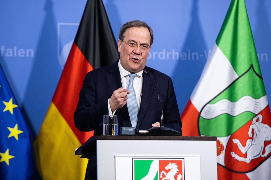 Armin Laschet (60, CDU), Ministerpräsident von Nordrhein-Westfalen, stellte in der Nacht die Ergebnisse der Corona-Verhandlungen vor.