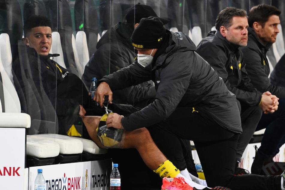 Borussia Dortmund muss wochenlang ohne Leistungsträger Jadon Sancho (20, l.) auskommen, der zuletzt immer besser in Form kam.