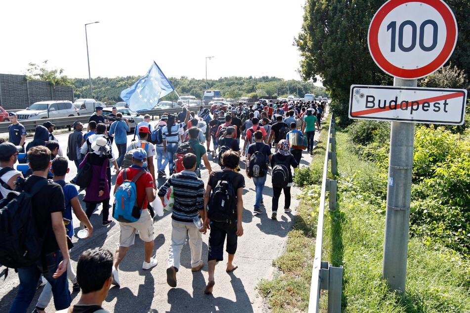 Budapest, im September 2015: Migranten verlassen die Stadt. Viele wollen in Richtung Deutschland.