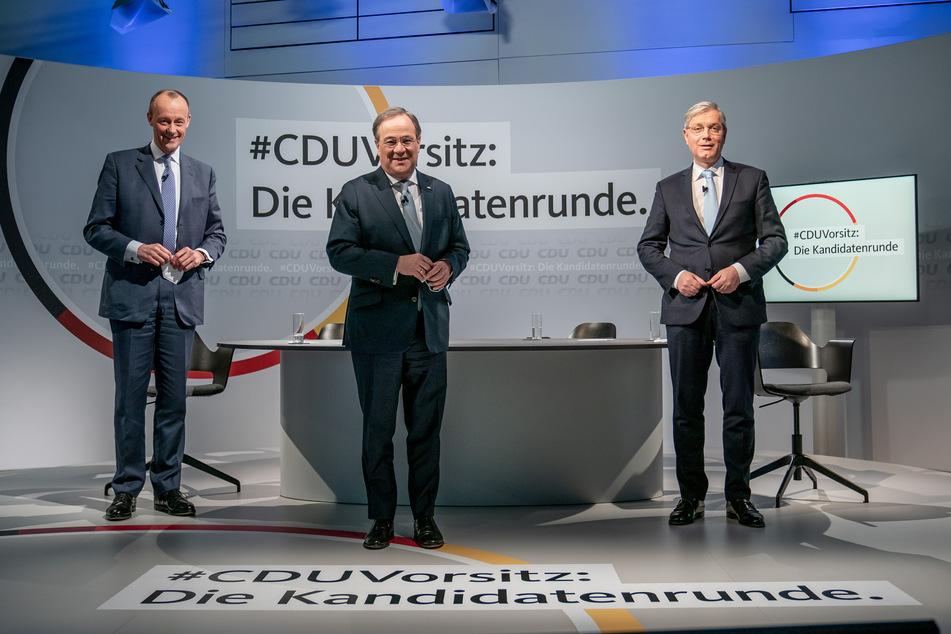 Im Konrad-Adenauer-Haus ging es hoch her. Die drei Kandidaten für den CDU-Parteivorsitz um Friedrich Merz (65, l.), Armin Laschet (59, m.) und Norbert Röttgen (55, r.).