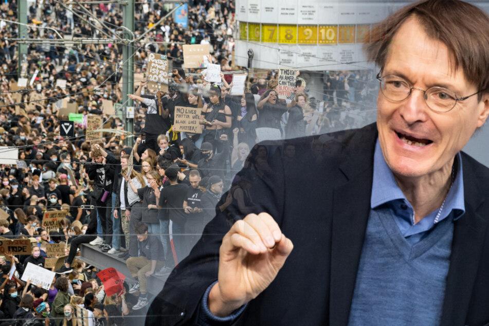 SPD-Gesundheitsexperte Karl Lauterbach sieht die jüngsten Massendemonstrationen kritisch.