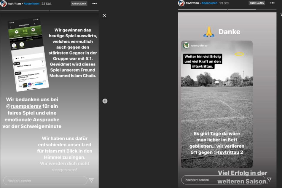 Der TSV Trittau widmet seinen Sieg am Samstag gegen den Rümpeler SV seinem getöteten Spieler, teilte die Mannschaft auf Instagram mit.