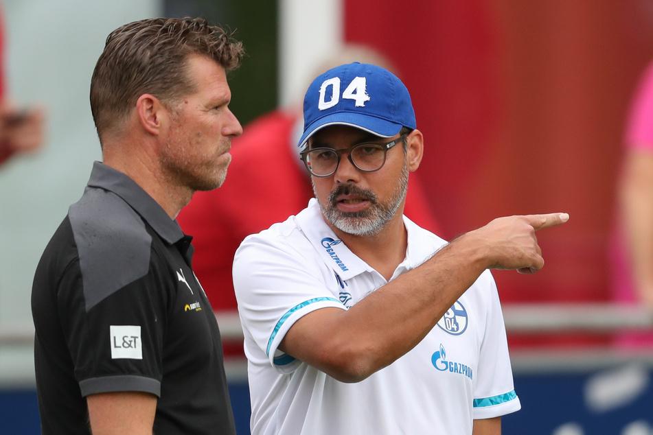 Trainer David Wagner (re., 48) Hat derzeit keinen einfachen Job auf Schalke.