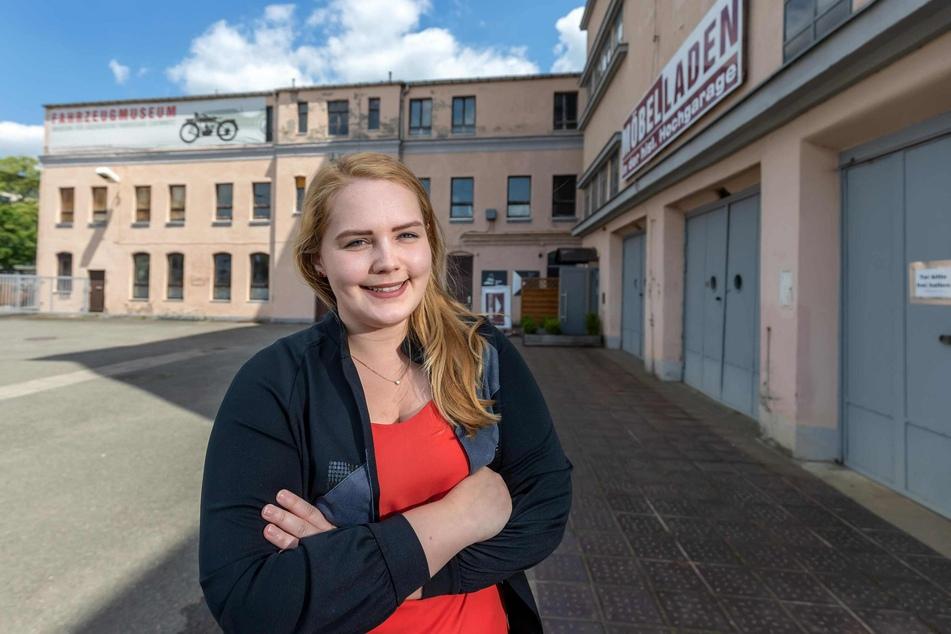 Architektin Annika Schätz (25) entwickelte für ihre Diplomarbeit eine Zukunftsvision für das Fahrzeugmuseum in der Zwickauer Straße.