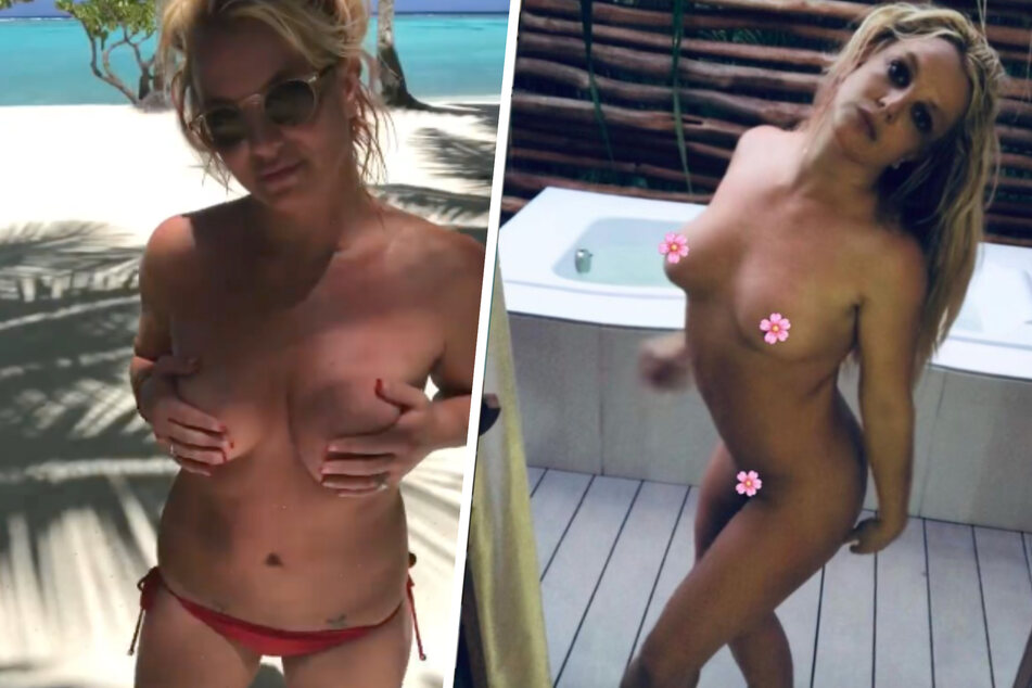Britney Spears celebrates her freedom by baring it all in paradise