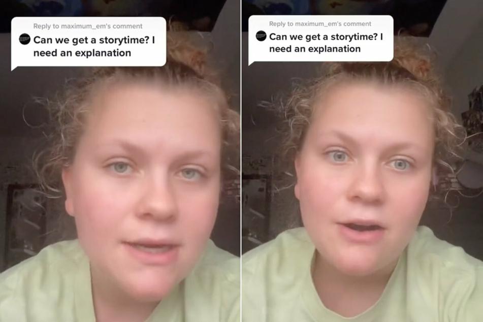 Die Userin erklärte die Hintergründe der gefilmten Situation auf ihrem TikTok-Account.