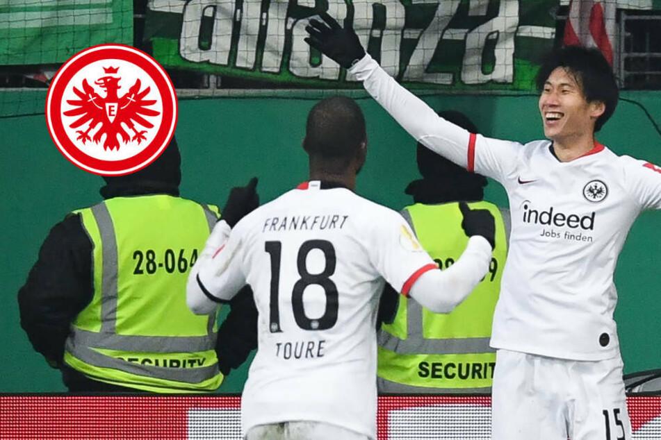 Eintracht Frankfurt eine Runde weiter: Rote Karte trübt Freude über Halbfinal-Einzug