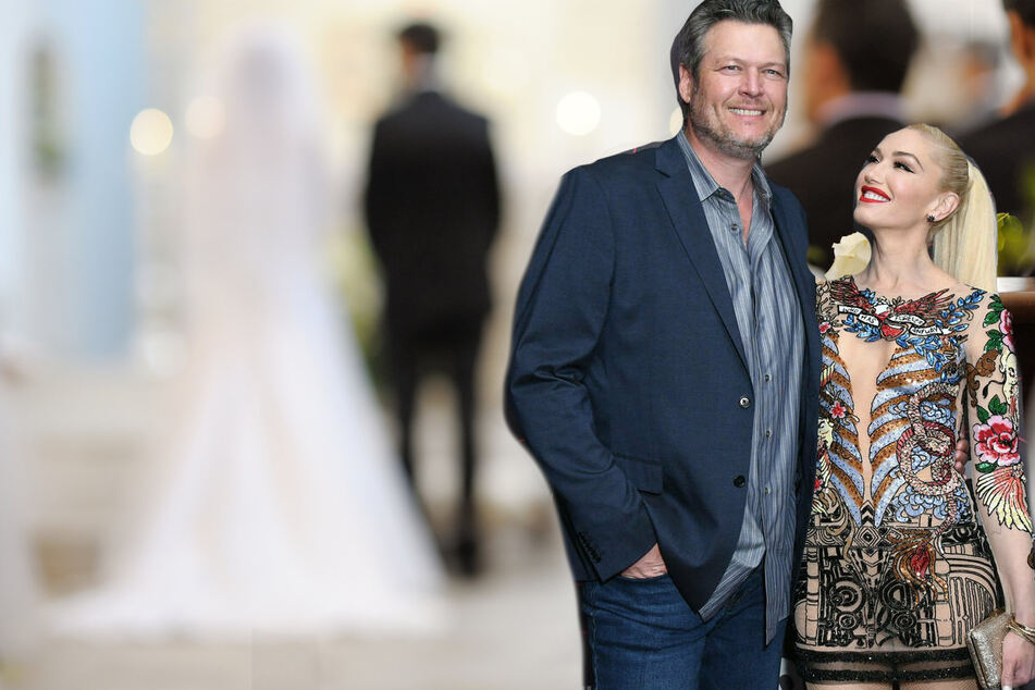 Gwen Stefani and Blake Shelton share new pics from their surprise weekend wedding!