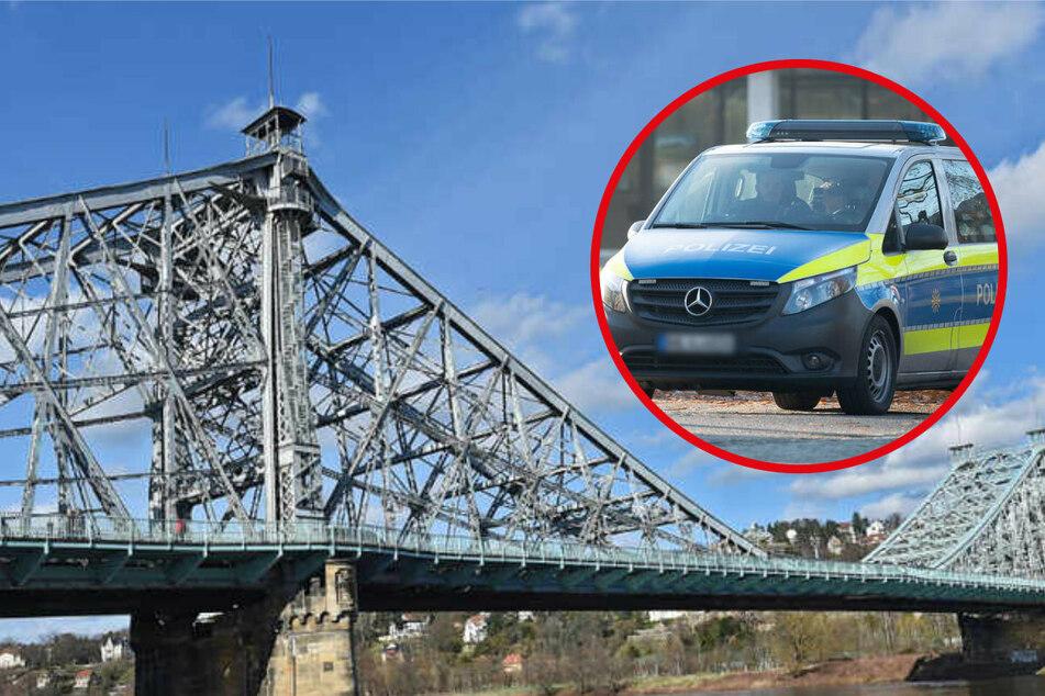 Fahrerflucht am Blauen Wunder: Polizei sucht nach Zeugen!
