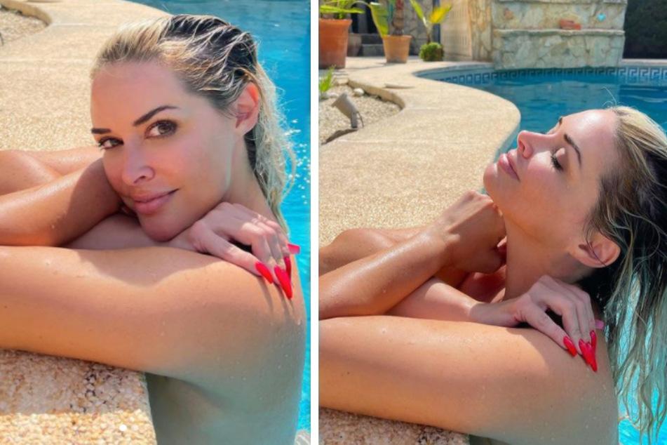 Daniela Katzenberger (34) zeigt sich selten so von ihrer sinnlichen Seite. (Fotomontage)