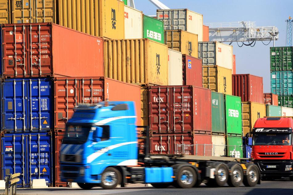Containerhafen in NRW.