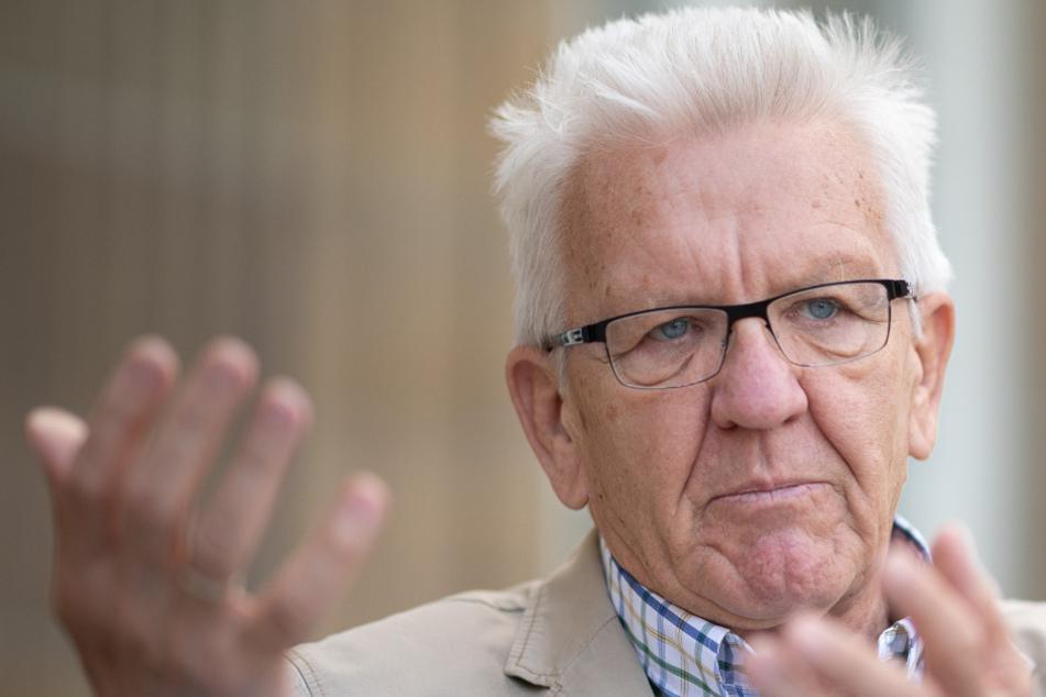 Baden-Württembergs Ministerpräsident Winfried Kretschmann spricht.