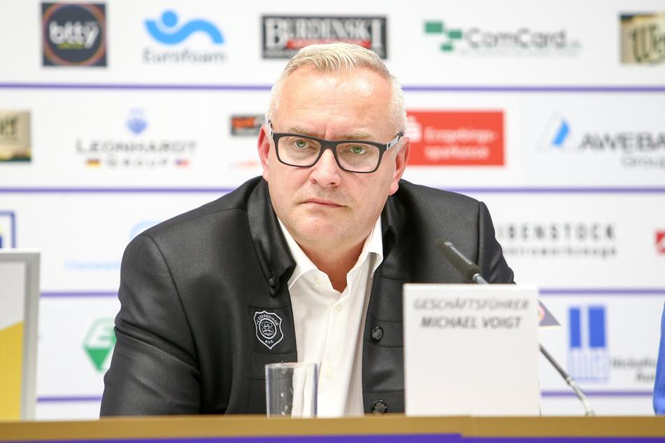 FCE-Geschäftsführer Michael Voigt stimmt nicht in allen Punkten mit den DFL-Plänen überein. (Archivbild)