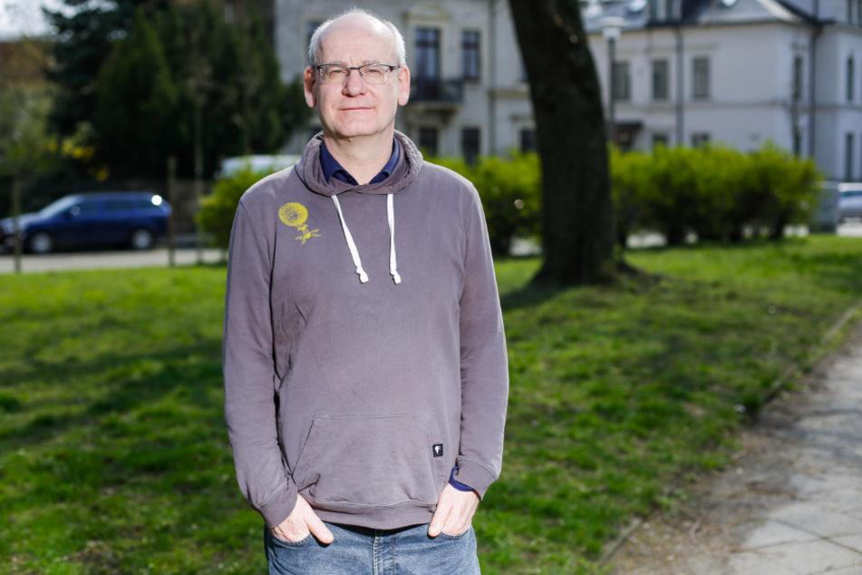 """Grüne-Stadtrat und """"Lautsprecher"""" Johannes Lichdi (56) hat Ärger mit seiner Partei."""