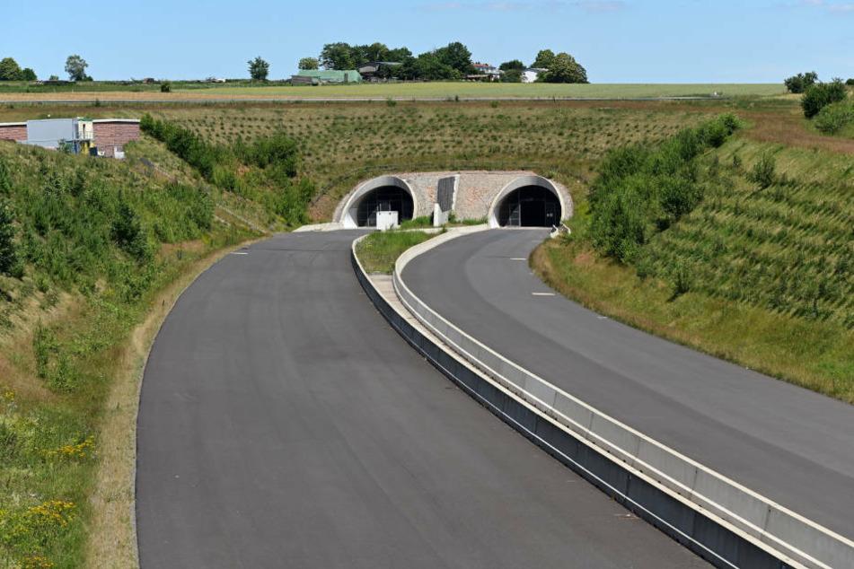 Blick auf die im Bau befindliche Autobahn A 49 bei Schwalmstadt.