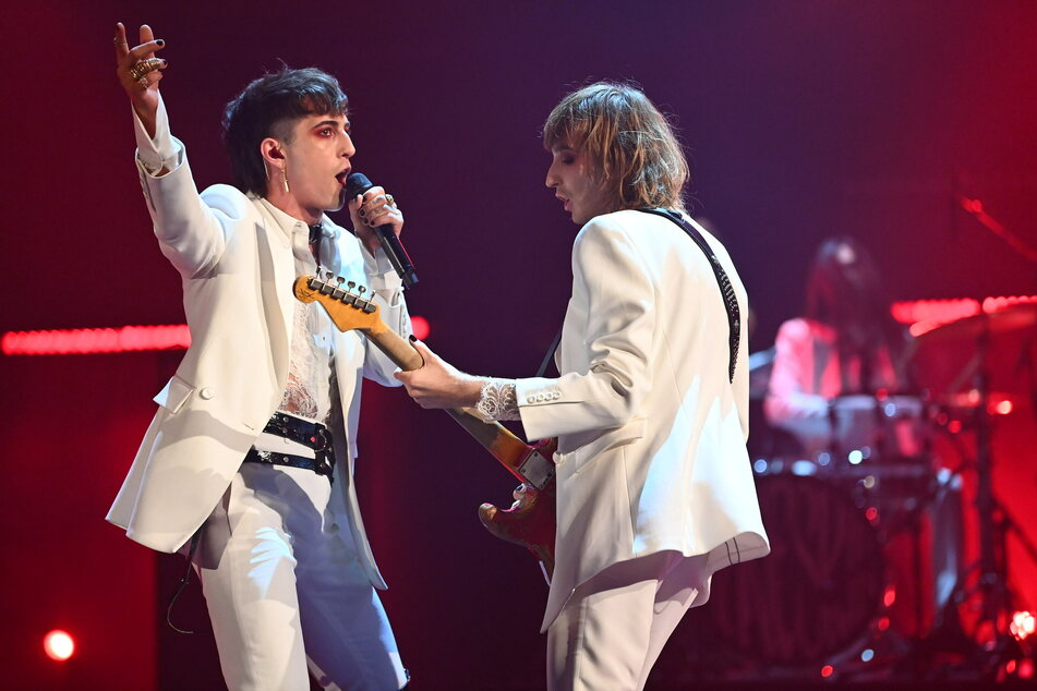 Die italienische Rockband Måneskin, frischer ESC-Sieger, gab am Samstagabend zwei Songs zum Besten.
