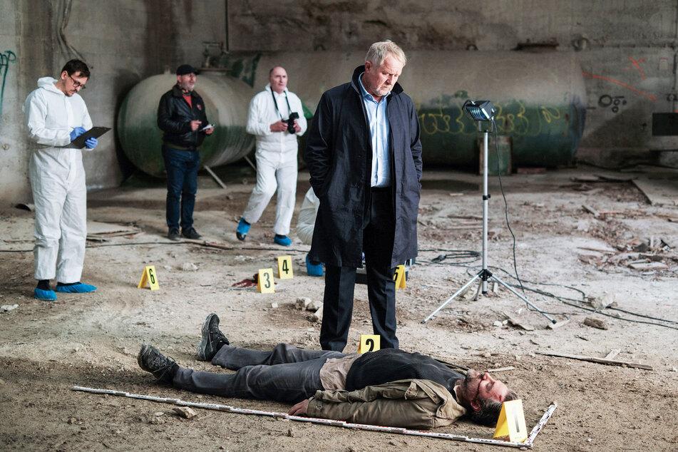 Moritz Eisner (Harald Krassnitzer, 60) inspiziert den Tatort.