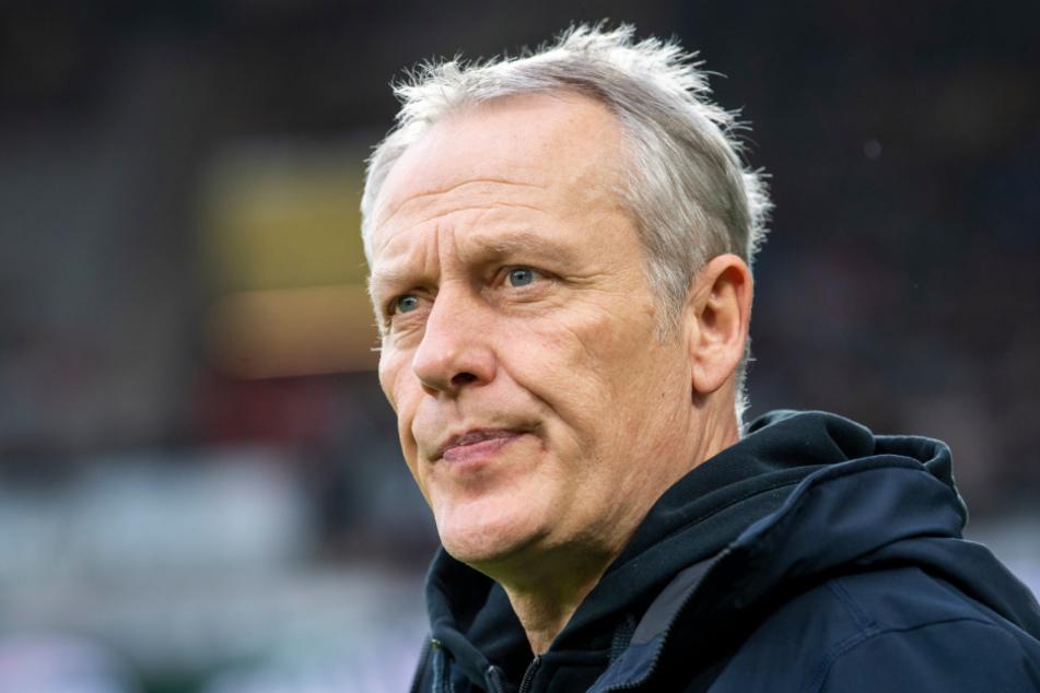 Freiburgs Trainer Christian Streich (55).