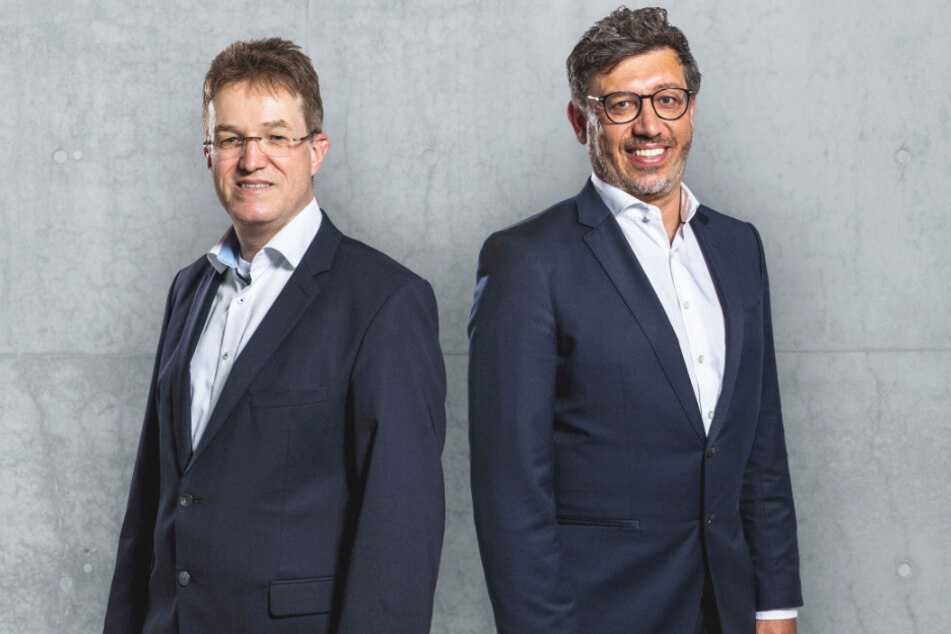 Pierre-Enric Steiger (49, l.) fordert in der Wahl am 18. Juli Präsident Claus Vogt (51) heraus.