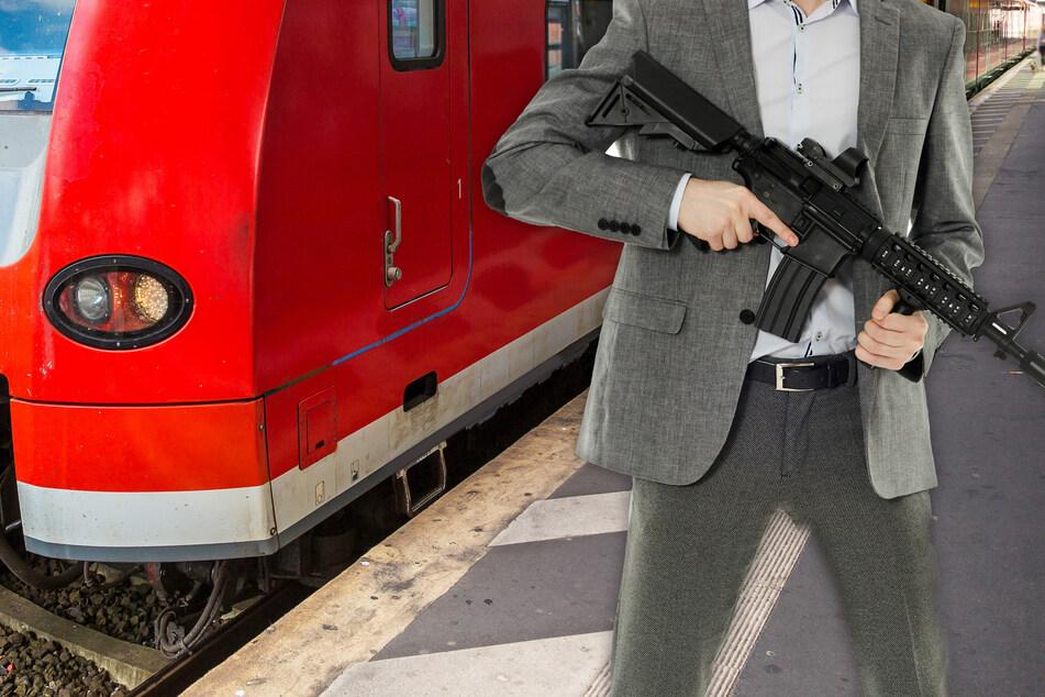 Polizei-Großeinsatz: Aggressiver Mann (24) sorgt mit Maschinenpistole an Bahnhof für Panik