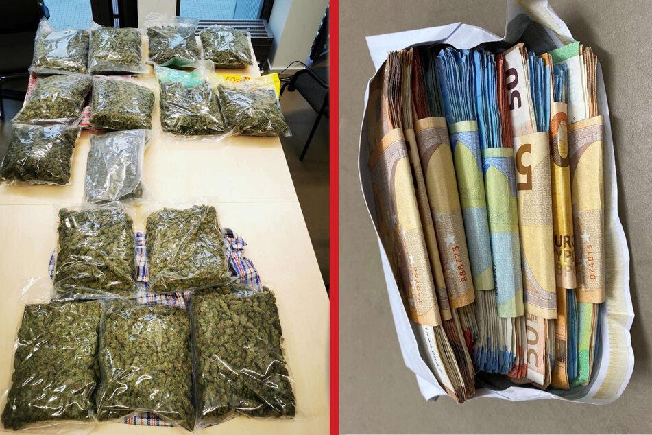 Insgesamt stellten die Drogenfahnder in Düsseldorf am Mittwoch 15 Kilogramm Cannabis und 26.000 Euro Bargeld sicher.