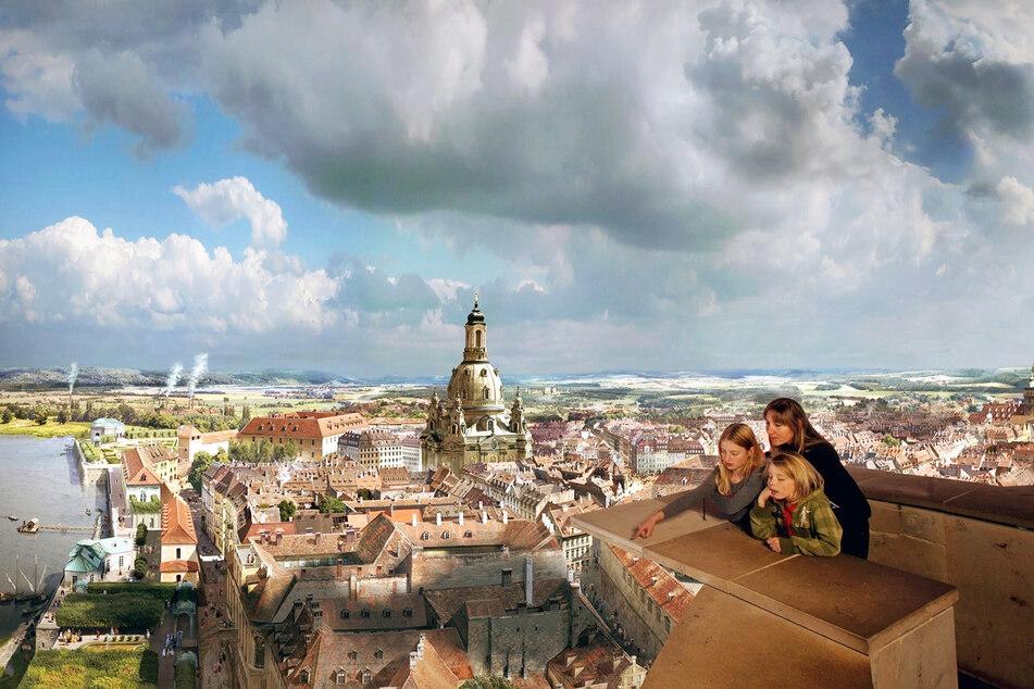 """Das Panometer ist mit dem aktuellen Panorama """"Dresden im Barock"""" Teil der Museumsnacht."""