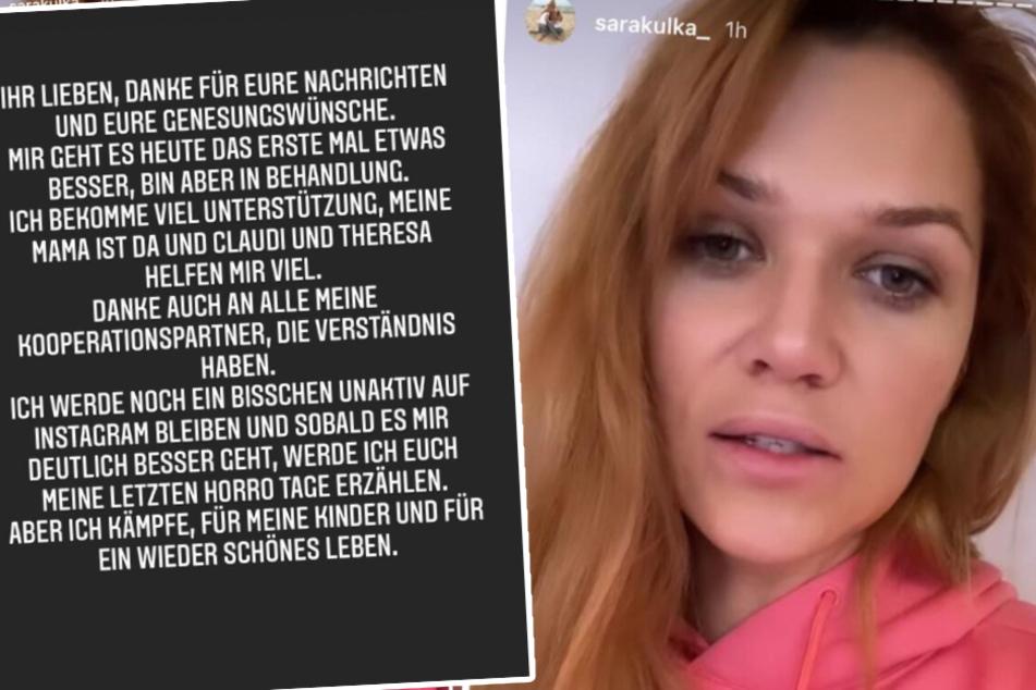 Links zu sehen: Das Statement, dass Model-Mama Sara Kulka (30) nun auf Instagram veröffentlichte.