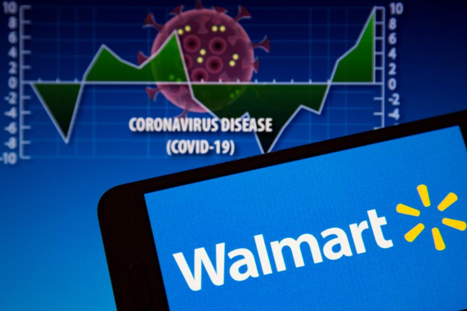 Das Logo von Walmart, ein multinationales Einzelhandelsunternehmen.