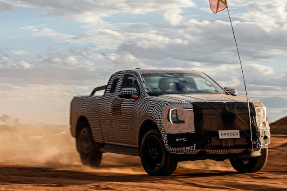 Ein erster Blick auf den neuen Ford Ranger, der im Jahr 2022 auf den Markt kommen soll.