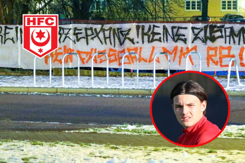 Wegen Leihgeschäft mit RB Leipzig: HFC-Fans machen ihrem Ärger Luft