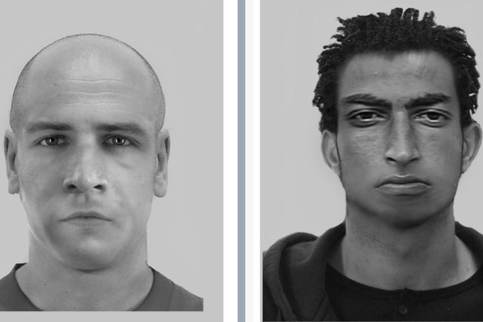 Diese Phantombilder sollen bei der Suche nach den mutmaßlichen Tätern helfen.