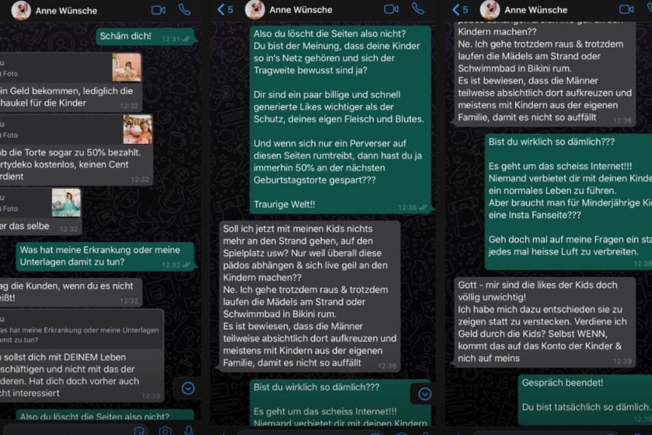 Jan Leyk postete unter anderem diese Screenshots aus einer Unterhaltung mit Anne Wünsche.