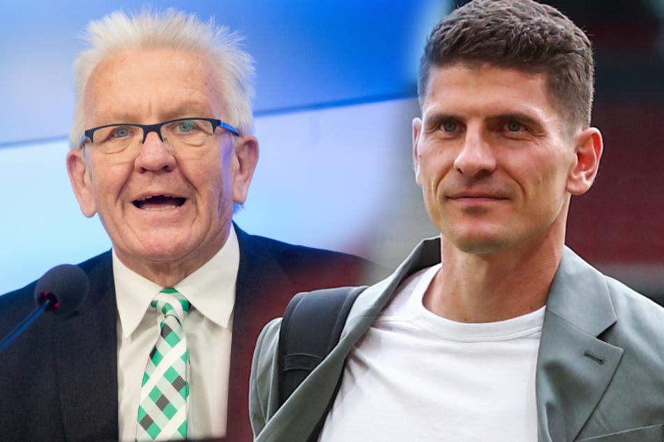 Kretschamnn (links) verabschiedete Gomez am Mittwoch persönlich.