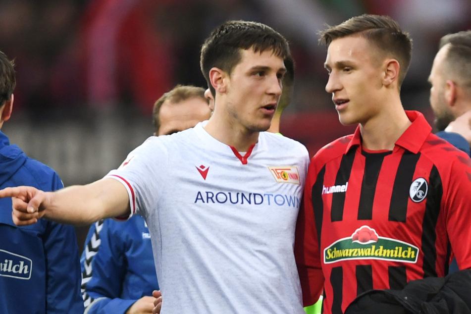 Keven Schlotterbeck (links), Abwehrspieler des 1. FC Union Berlin, neben seinem Bruder Nico, der für den SC Freiburg aktiv ist.