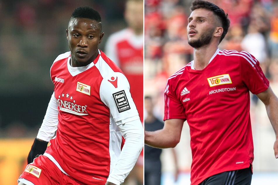 Suleiman Abdullahi (24/l.) und Leon Dajaku (20/r.) konnten sich beim internen Testspiel in die Torschützenliste eintragen. Beide könnten Union im Sommer noch verlassen.