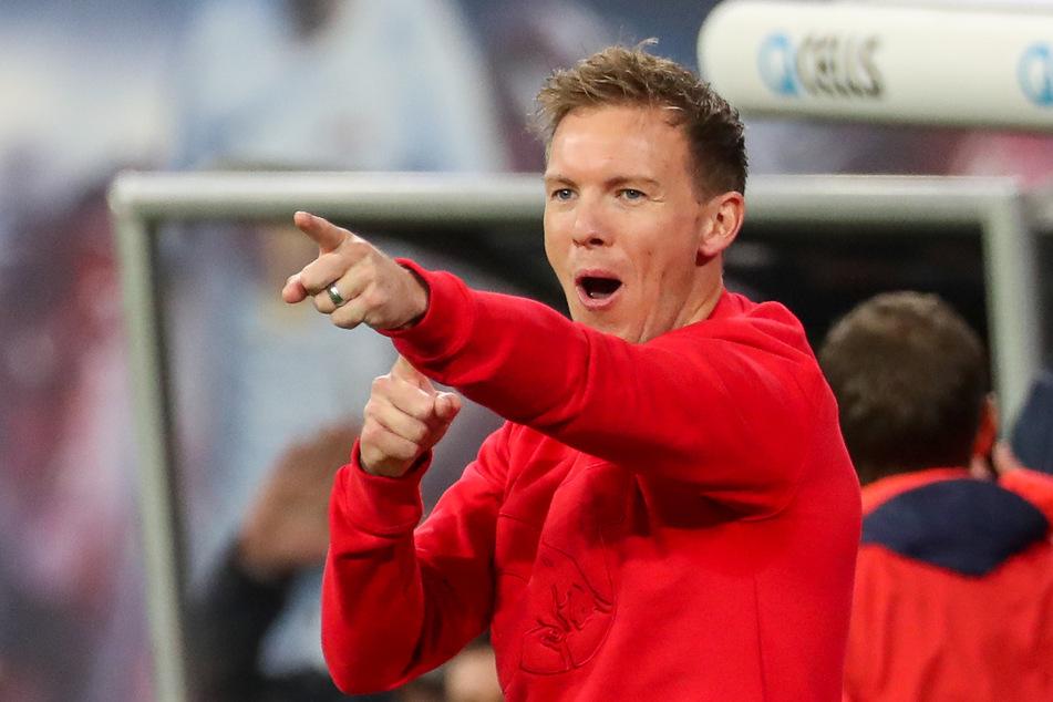 Ob er sich diesmal auch wieder so freuen kann? RB-Coach Julian Nagelsmann beim Spiel gegen Mainz im November 2019.