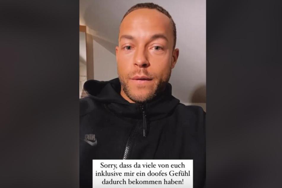 """Andrej Mangold (33) bat seine Instagram-Fans um Entschuldigung, für das """"doofe Gefühl"""", dass er vermittelt habe."""