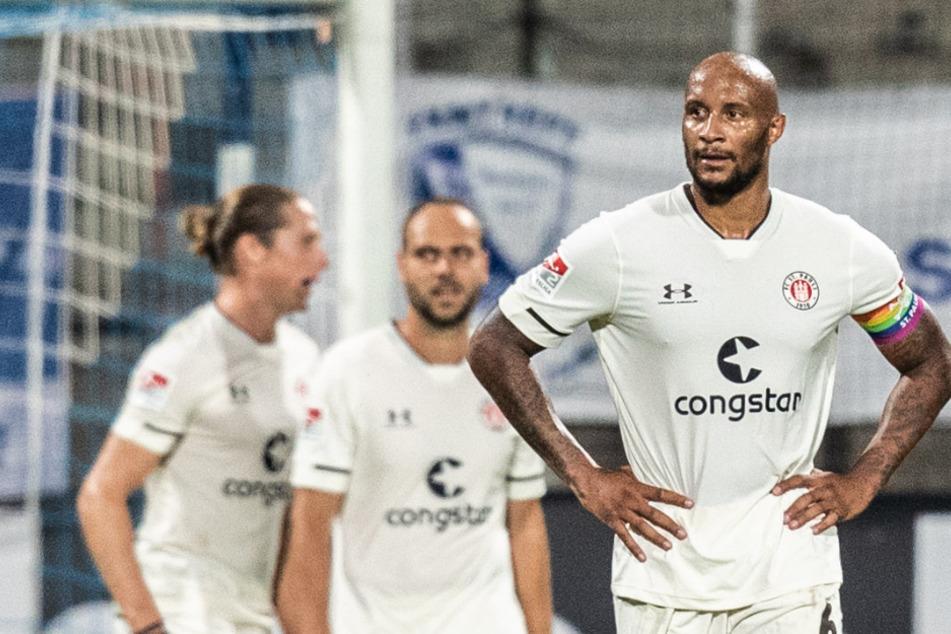 St. Paulis Christopher Avevor wird am Sonntag das erste Heimspiel vor nur 2226 Zuschauern bestreiten.