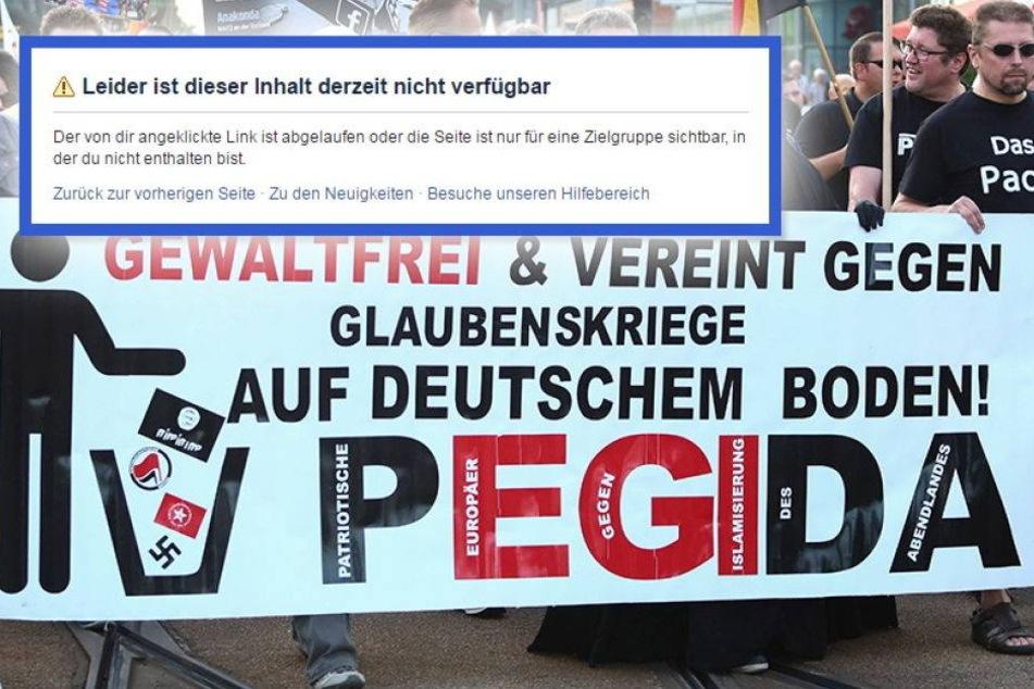 Pegida Facebook Seite Gelöscht
