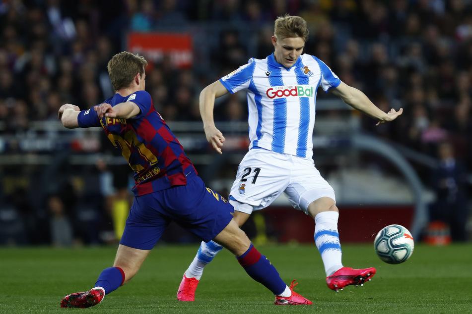 Martin Ödegaard (21) glänzte in der letzten Saison im Trikot von Real Sociedad San Sebastian mit 16 Torbeteiligungen und soll nun vorzeitig zu Real zurück.