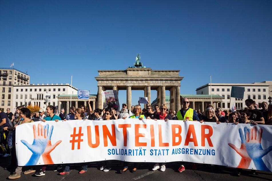 """Das Bündnis """"Unteilbar"""" will am Sonntag in Berlin demonstrieren."""