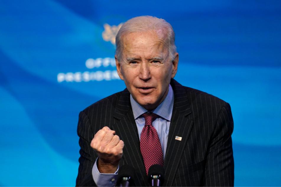 """Joe Biden, designierter Präsident der USA, spricht während einer Veranstaltung im """"The Queen Theater"""" in Wilmington."""