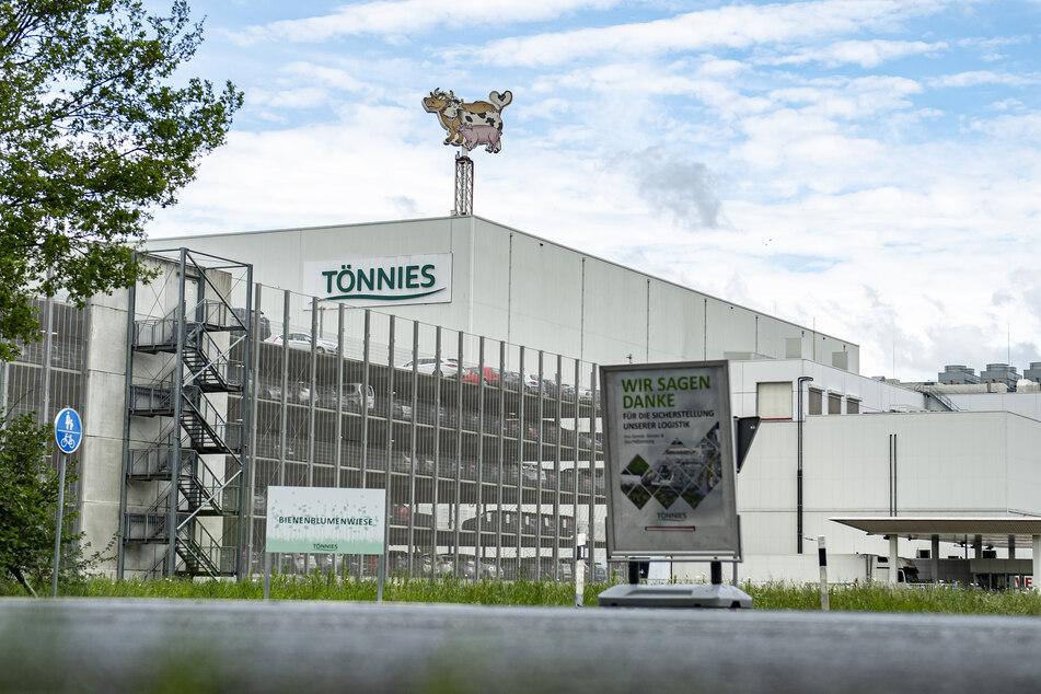Außenansicht des Firmengeländes vom Fleischwerk Tönnies in Rheda-Wiedenbrück.