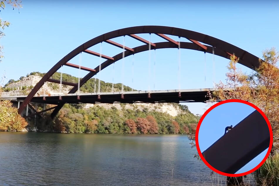 Der YouTuber hatte sichtlich Mühe, die Brücke hochzuklettern.