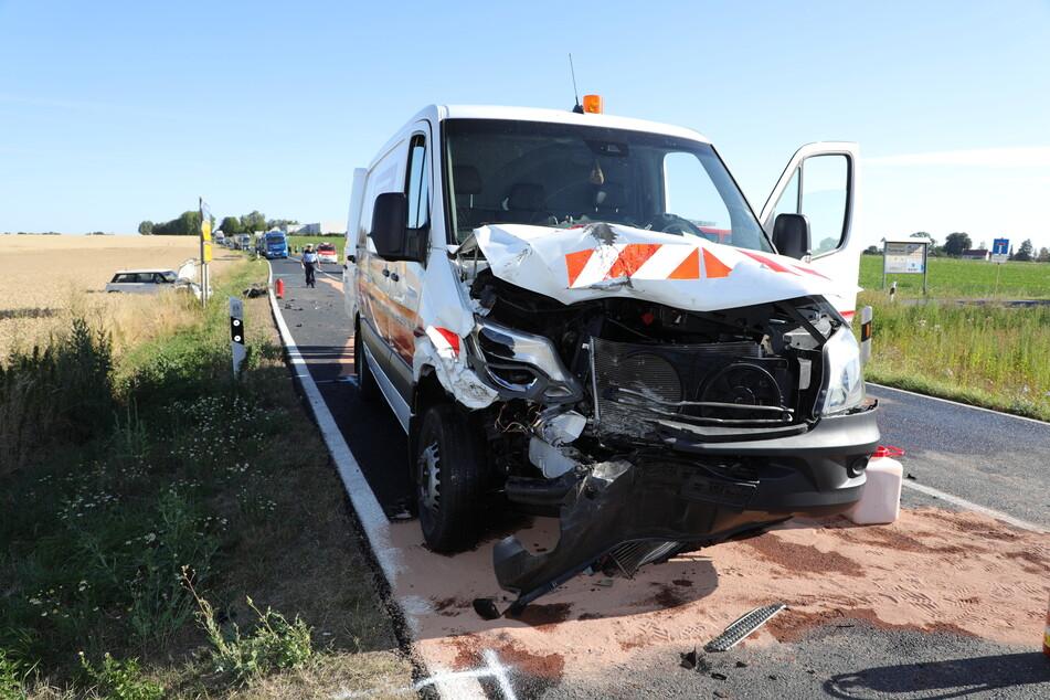 Dieser Mercedes Sprinter verursachte den Unfall.
