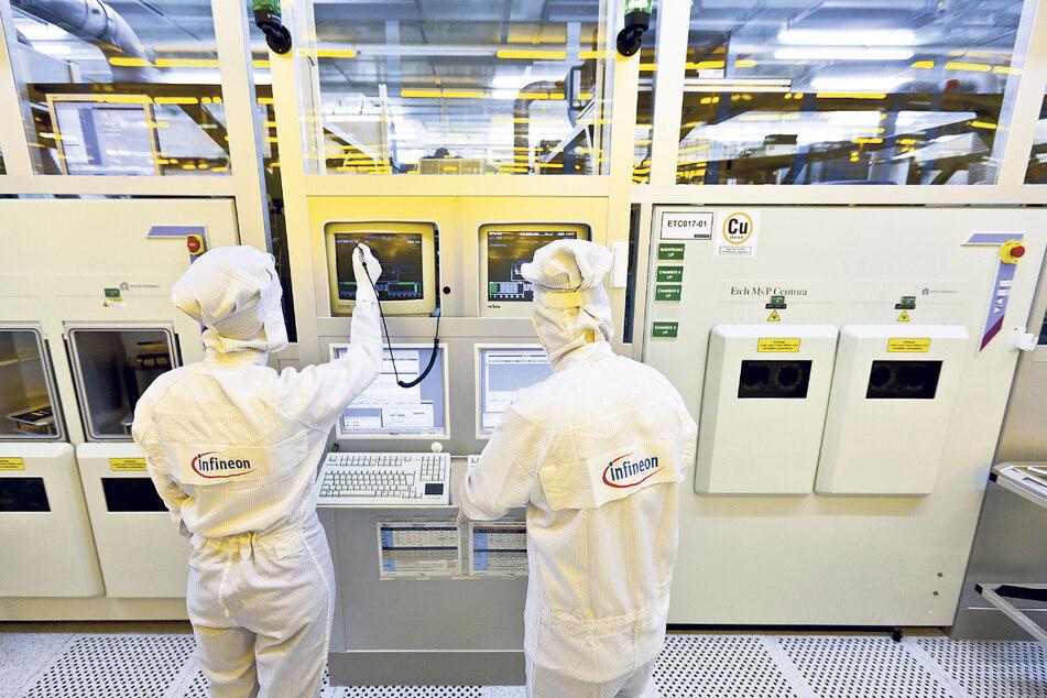 Genauigkeit und Qualität werden bei der Chipproduktion im Silicon Saxony besonders großgeschrieben.