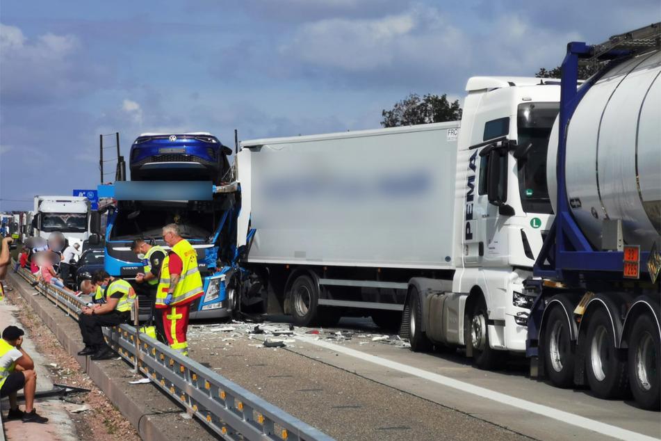 Das Foto zeigt die Unfallstelle.