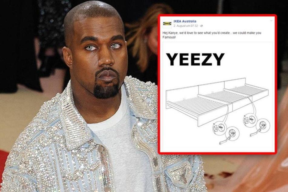 So amüsiert sich IKEA über Rapper Kanye West